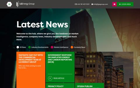 Screenshot of Press Page lgegroup.com - News | LGEnergy Group - captured Sept. 25, 2018