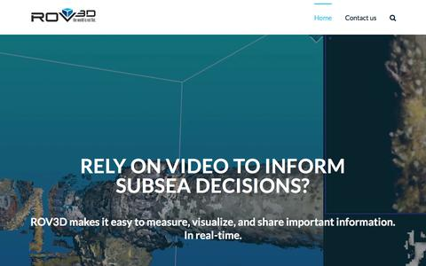 Screenshot of Home Page rov3d.com - Whitecap Scientific Corporation – The World is Not Flat. - captured Sept. 24, 2018