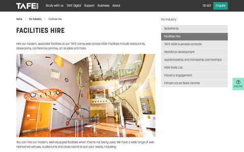 Facilities Hire - Course, Study and Training - TAFE NSW