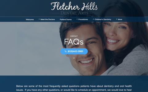 Screenshot of FAQ Page keendentistry.com - David D. Keen, DDS - Dental FAQs - Dr. Keen El Cajon Dentist - Oral Health San Diego County - captured Oct. 7, 2018
