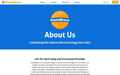 Screenshot of About Page planetbravo.com - PlanetBravo - About Us - captured Dec. 9, 2015