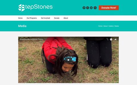 Screenshot of Press Page stepstonesforyouth.com - Media - StepStones for Youth - captured Feb. 19, 2018
