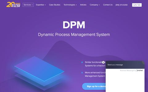 Screenshot of Products Page tizbi.com - DPM - Dynamic Process Management System | Tizbi - captured Dec. 6, 2019