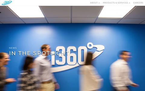 Screenshot of Press Page i-360.com - Newsroom - i360 - captured Sept. 24, 2018