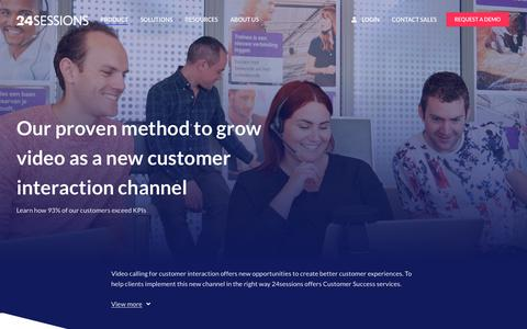 Screenshot of Services Page 24sessions.com - Customer Success Program - captured June 14, 2019