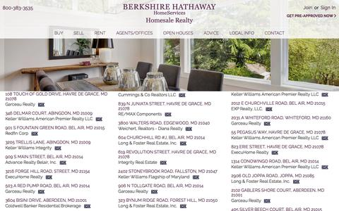 Screenshot of Site Map Page homesale.com - Berkshire Hathaway HomeServices Homesale Realty, homes and real estate for sale - captured Jan. 12, 2020