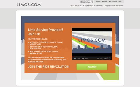 Screenshot of Signup Page limos.com - Marketing Services for Limo Companies| Limos.com - captured Sept. 16, 2014