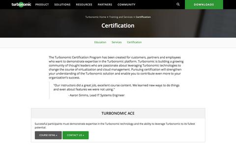 Turbonomic Product Certification Programs