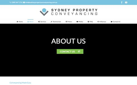 Screenshot of About Page sydneypropertyconveyancing.com.au - About Us | Sydney Property Conveyancing | Sydney Property Conveyancing - captured Feb. 18, 2019