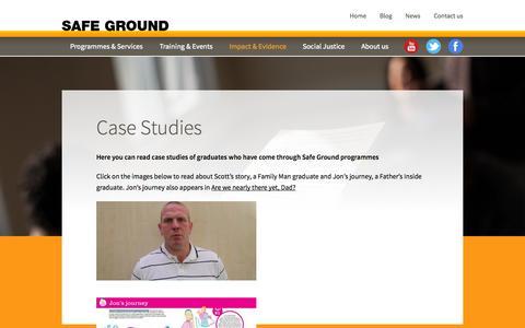 Screenshot of Case Studies Page safeground.org.uk - Case Studies – Safe Ground - captured Nov. 2, 2014