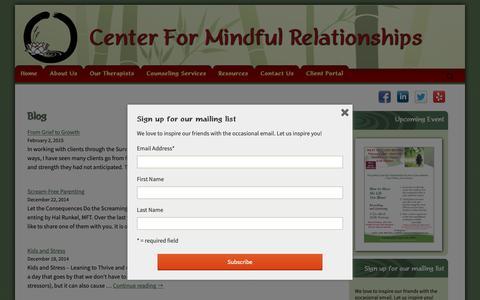 Screenshot of Blog cfmrsandiego.com - Blog | Mental Health, Psychology, Psychotherapy | CFMR - captured Sept. 27, 2018