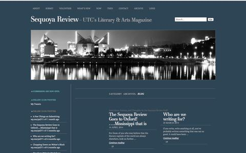 Screenshot of Blog sequoyareview.com - Blog   Sequoya Review - captured Sept. 30, 2014