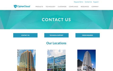CipherCloud | CASB | Cloud Security | Contact Us