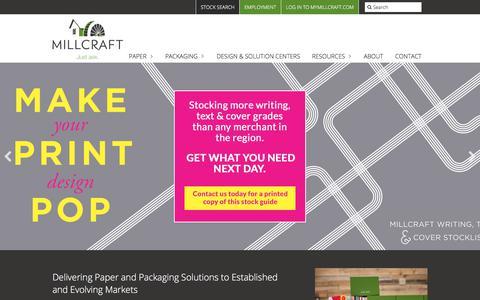 Screenshot of Home Page millcraft.com - Home Page - Millcraft - captured Sept. 21, 2018