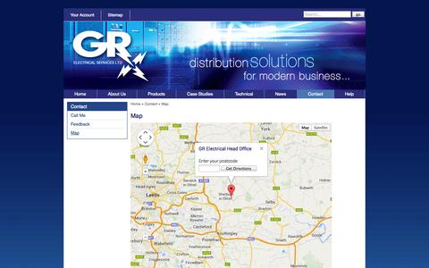Screenshot of Maps & Directions Page gr-electrical.co.uk - GR Electrical : Map - captured Oct. 1, 2014