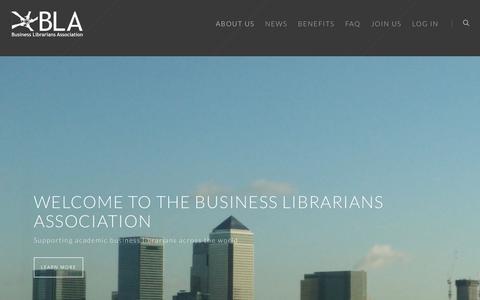 Screenshot of Home Page blalib.org - Business Librarians Association - captured Oct. 11, 2017