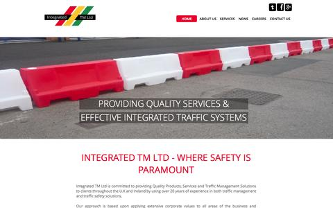Screenshot of Home Page integratedtm.co.uk - Integrated tm ltd| Traffic Management - captured Oct. 6, 2014