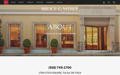 Screenshot of About Page brucegweber.com - Our Story – Bruce G. Weber - captured Nov. 13, 2018