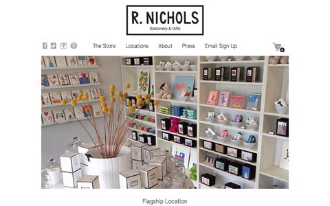 Screenshot of Locations Page r-nichols.com - Locations | R. Nichols - captured Dec. 1, 2016