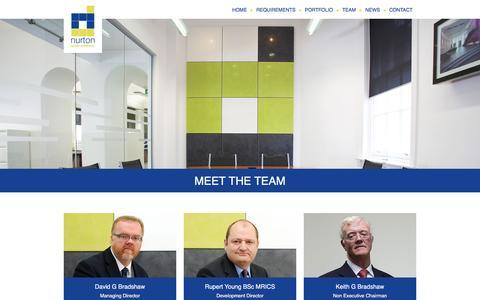 Screenshot of Team Page nurtondevelopments.com - Meet the Team   Nurton - captured May 31, 2016