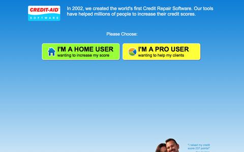 Screenshot of Home Page credit-aid.com - Credit Repair Software from Credit-Aid | Seen on CNN | FREE Demo! - captured July 7, 2019