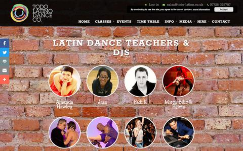 Screenshot of Team Page todo-latino.co.uk - People Archive | Todo Latino Dance Co. - captured Oct. 19, 2018