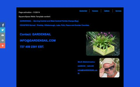 Screenshot of Services Page gardensail.com - Contact,GARDENSAIL.com GARDENSAIL FLOATING GARDENS - captured Nov. 1, 2014