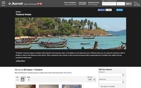 Find Thailand Hotels by Marriott