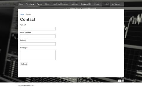 Screenshot of Contact Page pecuniacausa.nl - Contact – Pecunia Causa - captured July 13, 2018