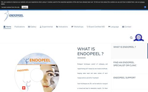Screenshot of Home Page Privacy Page endopeel.com - Endopeel Portal Main Website : Lifting,Tightening & Tissue Projecting - captured July 11, 2018