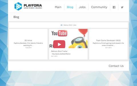 Screenshot of Blog playforia.com - Playforia |   Blog - captured Sept. 13, 2014