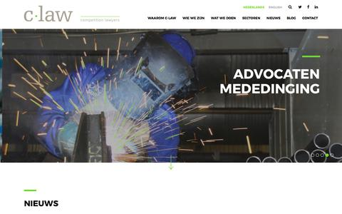 Screenshot of Home Page c-law.nl - C-Law - captured July 6, 2017