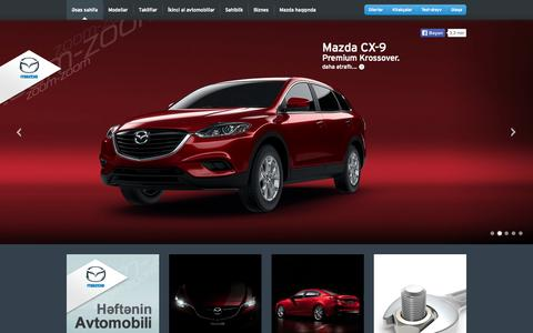 Screenshot of Home Page mazda.az - Mazda Avtomobil Mərkəzi - captured Sept. 25, 2014