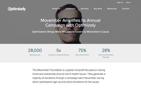 Movember Increases Email Donations 28% with Optimization