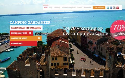 Screenshot of Home Page camping-gardameer.eu - Camping Gardameer - captured July 18, 2015