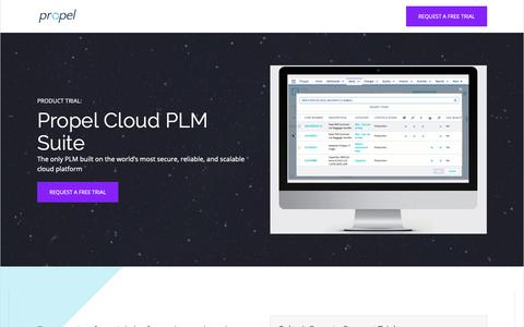 Screenshot of Trial Page propelplm.com - Propel PLM Free Trial - captured Nov. 2, 2018