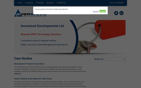 Screenshot of Case Studies Page avonwood.co.uk - Case Studies - Avonwood - captured Oct. 4, 2014