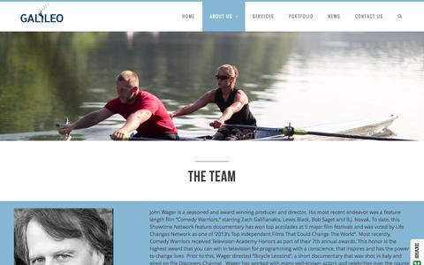 Screenshot of Team Page galileomediaarts.com - The Team - Galileo Media Arts - captured Oct. 27, 2014