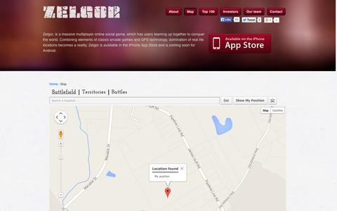 Screenshot of Maps & Directions Page zelgor.com - Map | Battle field | Zelgor | Capture your friends, capture the world - captured Sept. 17, 2014