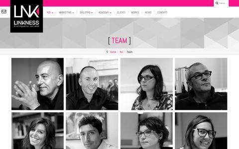 Screenshot of Team Page linkness.com - Web Agency Venezia Mestre: il Team - captured Oct. 28, 2014