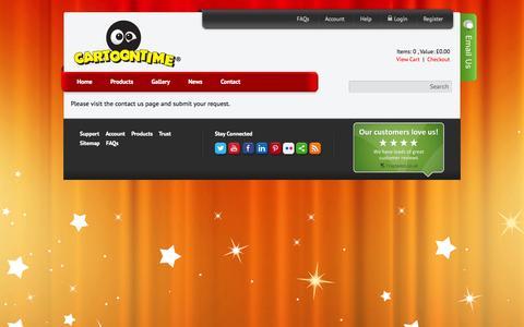 Screenshot of Support Page cartoontime.net - support - captured Sept. 30, 2014