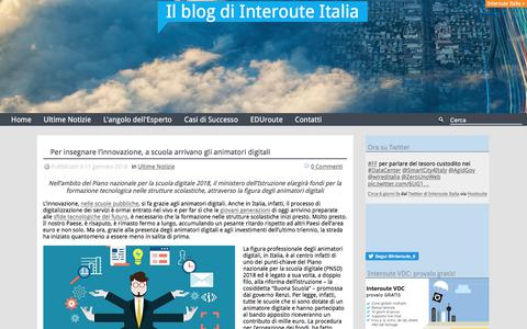 Screenshot of Blog interoute.it - Il blog di Interoute Italia - captured Jan. 13, 2018
