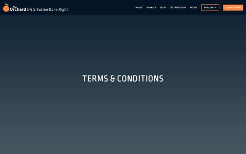 Screenshot of Terms Page theorchard.com - Terms & Conditions – The Orchard - captured May 27, 2017