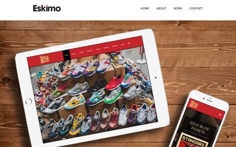 Screenshot of Home Page eskimocreative.com - Home   Eskimo Creative   Graphic Design   Glasgow - captured Dec. 8, 2018