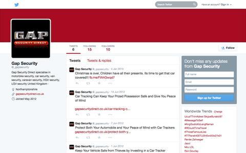 Screenshot of Twitter Page twitter.com - Gap Security (@_gapsecurity) | Twitter - captured Oct. 22, 2014