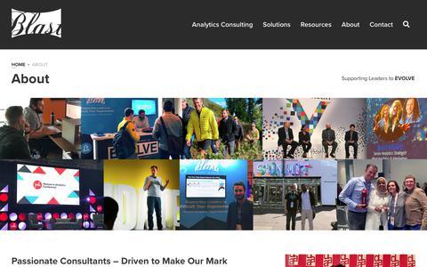 Screenshot of About Page blastam.com - About Blast Analytics & Marketing - Google Certified Partner - captured Jan. 7, 2020