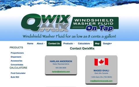 Screenshot of Contact Page Maps & Directions Page qwixmix.com - Contact Qwix Mix - Bulk Washer Fluid Solution - captured July 25, 2018