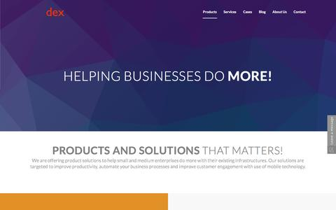 Products and Solutions for growing Businesses by Dex