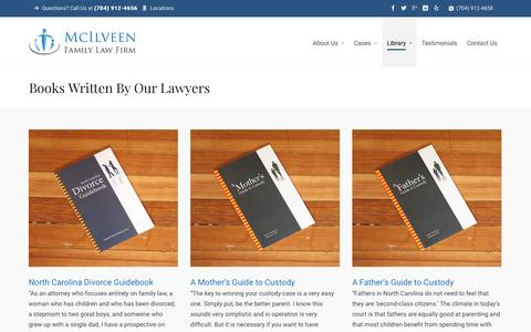 Books Written By Our Lawyers | Charlotte NC Divorce Lawyer & Family Law Attorneys - McIlveen Family Law