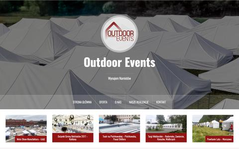 Screenshot of Home Page outdoor-events.pl - Wynajem namiotów - Outdoor Events - captured Oct. 27, 2018